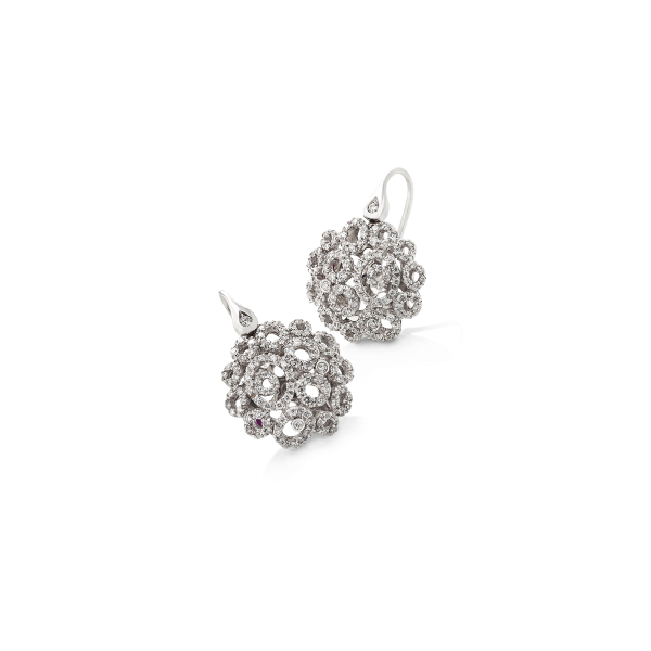 Pendientes Mauresque oro blanco brillantes